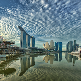 Marina Bay Sands (Singapore) by Riki Boo - Landscapes Cloud Formations ( epic, awesome, mbs, cloud, singapore, formation )