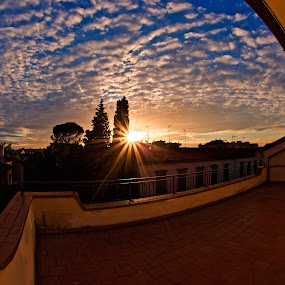 Altocumulus dream sunset by Fabrizio Reali - Landscapes Cloud Formations ( clouds, canon, sky, nature, sunset, cloud,  )