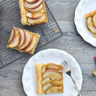 French Apple Tart (Tarte Fine aux Pommes) [vegan]