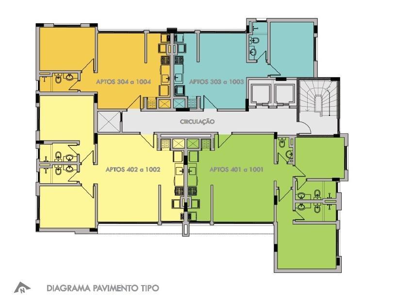 Apartamento com 2 dormitórios, sendo 2 suítes, living 2 ambientes, lavabo, cozinha, área de serviço, 2 vagas de garagem. Apartamento para zelador, bicicletário e gás central. Condição diferenciada (desconto) para pagamentos à vista.  Previsão de entrega dezembro de 2017.  Temos outras unidades a disposição neste prédio. Gostaria de receber mais informações,