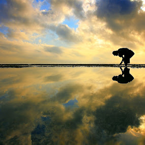 The Reflection of Infinity by Alit  Apriyana - Landscapes Waterscapes ( bali )