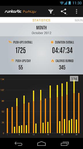 Runtastic Push-Ups Workout PRO screenshot 2