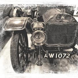 vintage car by Kathleen Devai - Digital Art Things ( car, vintage, art, tyres, light )