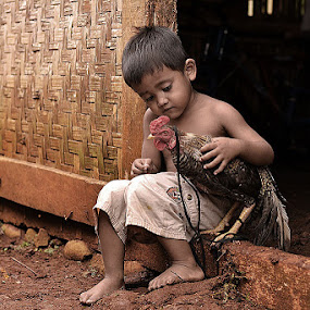 Me & Chick by Arindra Arindra - Babies & Children Children Candids