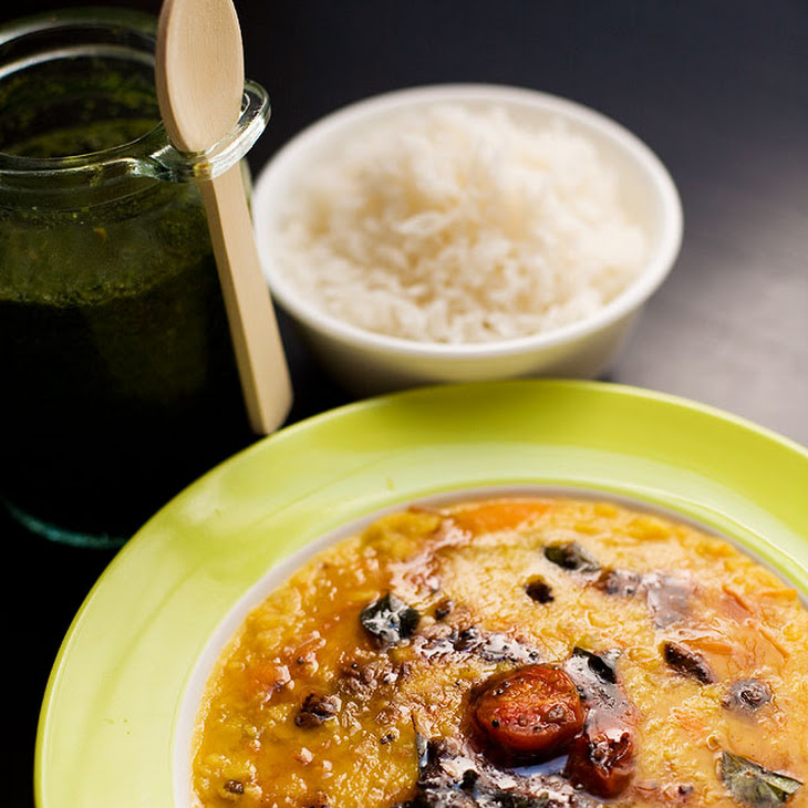 Tadka tomato dal and green tomato chutney - Summer Fest Recipe ...