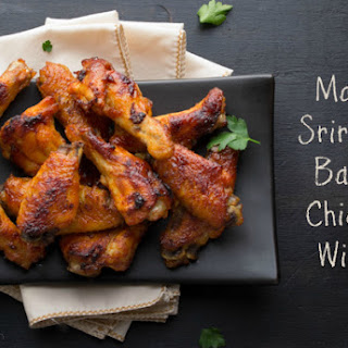 Maple Sriracha Baked Chicken Wings