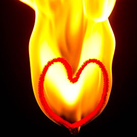 My Heart is on fire by D.M. Russ - Artistic Objects Other Objects