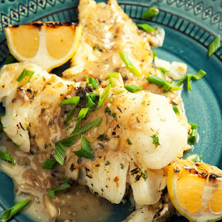 Seared Cod with Fresh Herb Sauce
