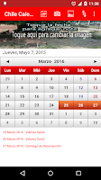 Screenshot of Chile Calendario 2015