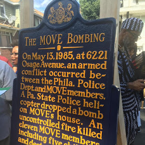 THE MOVE BOMBING On May 13, 1985, at 6221 Osage Avenue, an armedconflict occurred be-tween the Phila. PoliceDept. and MOVE members.A Pa. State Police heli-copter dropped a bombon MOVE's house. ...