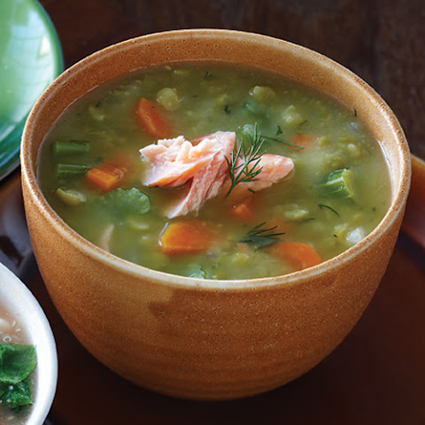 Split Pea Soup With Smoked Salmon
