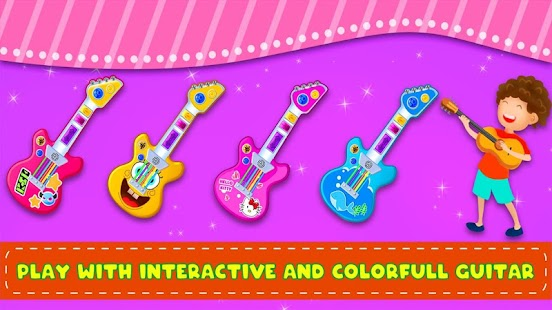 Pink Real Guitar for Kid - Music Kids for pc