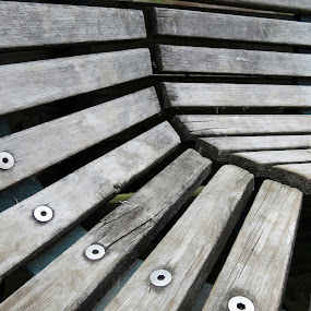 Park Bench by Bill Foreman - Artistic Objects Other Objects ( wood, bench, park, grain, rustic )