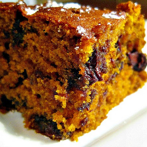 Chocolate Chip-Toffee Pumpkin Bars