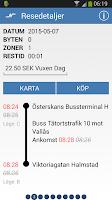 Screenshot of Hallandstrafiken
