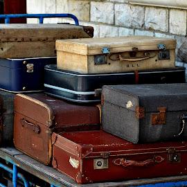 Swanage   suitcase   shades by Gordon Simpson - Transportation Railway Tracks