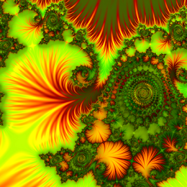 Carnival by Cassy 67 - Illustration Abstract & Patterns ( colorful, digital art, swirls, spiral, fractal, digital, flower )