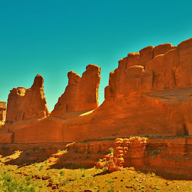 Arches Wall by Shane Lusk - Landscapes Deserts ( moab, desert, arches national park, utah, wall )