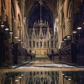 Reflections in Durham Cathedral by Phil Robson - Buildings & Architecture Architectural Detail ( religion, durham, church, reflections, durham cathedral )