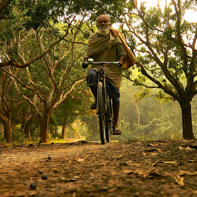 An Old Grandpa And The Solitary Afternoon by Rupam Chakraborty - Landscapes Forests (  )
