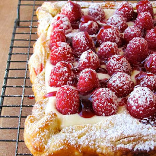 Rustic Raspberry Lemon Cheesecake Tart