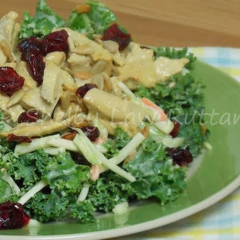 Broccoli Slaw and Kale Salad with Sweet and Spicy Dressing