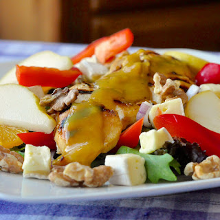 Honey Dijon Chicken Salad with Brie, Pear and Walnuts