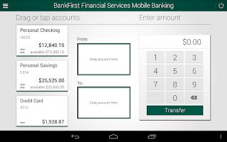 Screenshot of BankFirst Financial Services