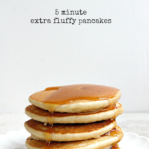 5 Minute Extra Fluffy Pancakes