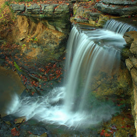 CLEAR WATERS IN THE OZARKS by Dana Johnson - Landscapes Waterscapes ( clear water, waterfalls, waterscape, fall, falls, ozarks, landscape )