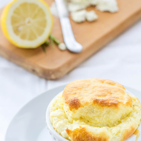 Chive & Goat Cheese Soufflé