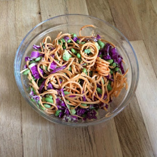 Sweet Potato Noodles with Almond Miso Sauce