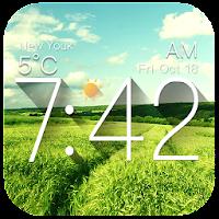 Galaxy weather digital clock For PC