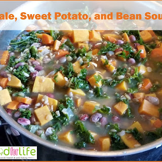 Kale, Sweet Potato, and Bean Soup