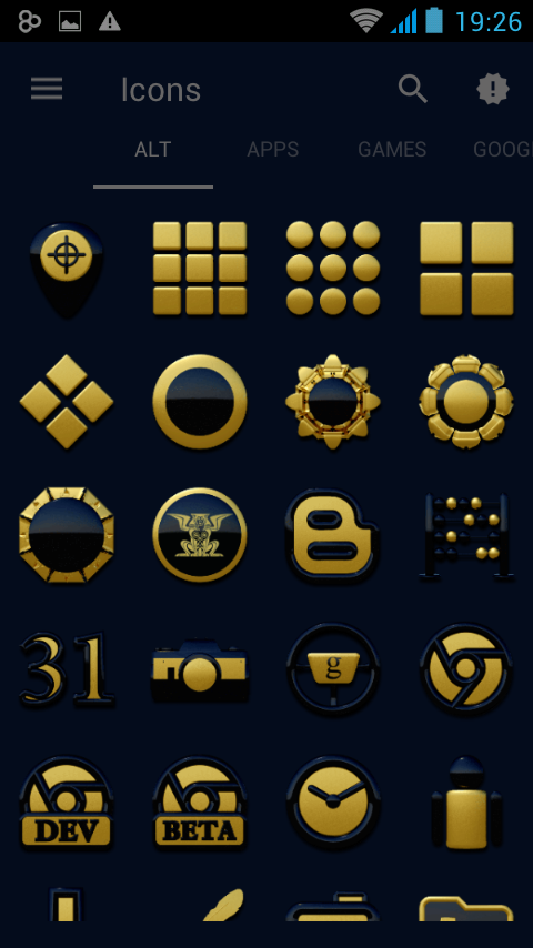 Babylon gold blue ICON PACK Screenshot 5