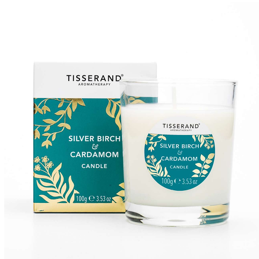 Tisserand Silver Birch and Cardamon Candle