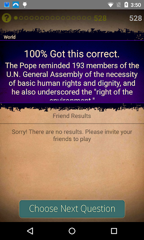 android Newsmeister: A Daily News Quiz Screenshot 3
