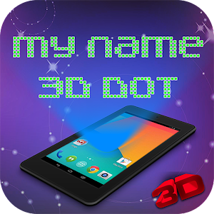 3D Dot Name Live Wallpaper