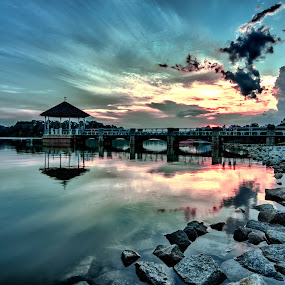 Sunset @ Lower Pierce Reservoir, Singapore by Riki Boo - City,  Street & Park  City Parks