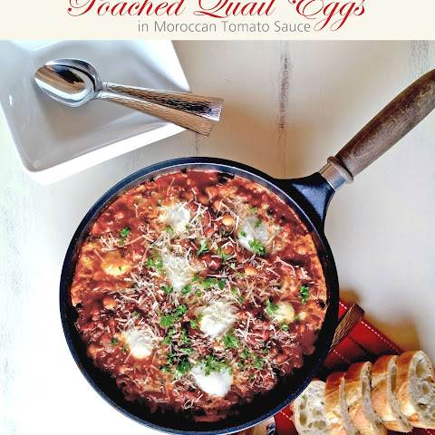 Poached Quail Eggs in Moroccan Tomato Sauce