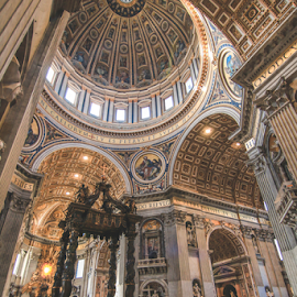St. Peter's Basilica by Juz AnDy - Buildings & Architecture Architectural Detail ( temple, church, rome, peter, vatican, saint, italy, pope )