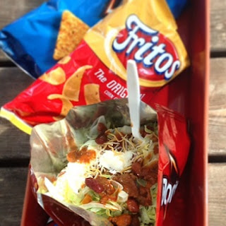 Taco Salad In A Bag Recipe History of Frito Pie - Walking Taco Salad - Texas Salad