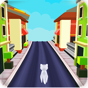 Talking Cat Gold Run , infinite runner.Collect golds at subway with Cat runner APK Icon