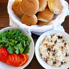 Cherry Almond Chicken Salad Sliders