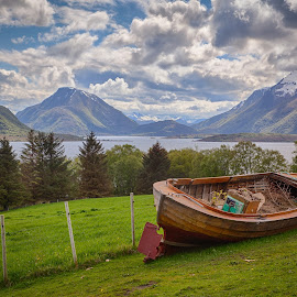 Getting nowhere by John Einar Sandvand - Transportation Boats ( boat, fjord, norway )