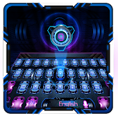 purple blue planet keyboard APK for Bluestacks