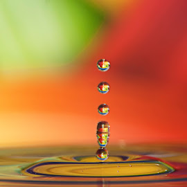 ... by Hale Yeşiloğlu - Abstract Water Drops & Splashes ( abstract, abstract art, color, drop, liquid art, drops )