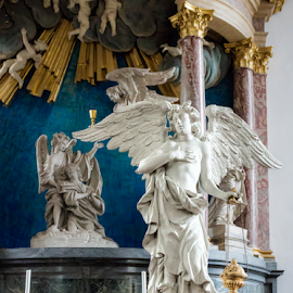 Marble statue by Vibeke Friis - Buildings & Architecture Places of Worship ( statue, church interior,  )