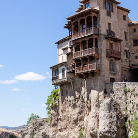 Hanging Houses, Cuenca, Spain by HB Jansson - Landscapes Travel ( cuenca, hanging houses, old town, 14-15th century., spain )