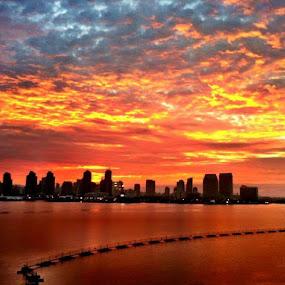 San Diego sunrise by Thomas Nicola - Landscapes Sunsets & Sunrises